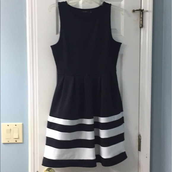 Apt 9 A Line Midi Black And White Dress